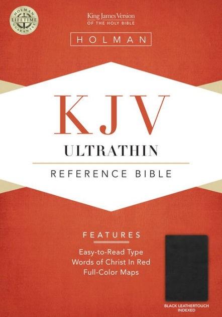 KJV Ultrathin Reference Bible, Black Leathertouch, Indexed (Imitation Leather)