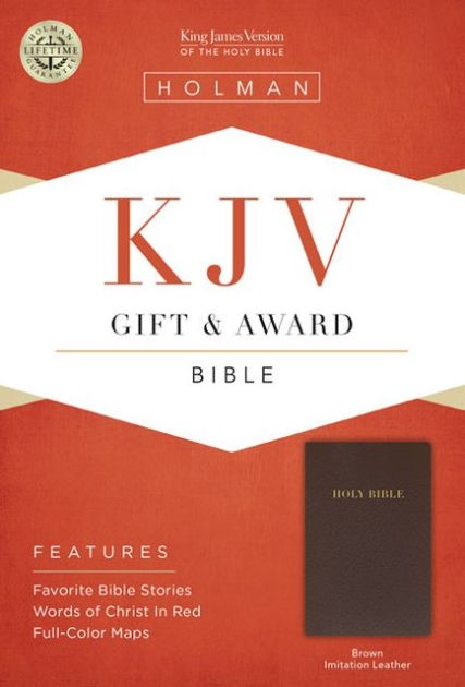 KJV Gift & Award Bible, Brown (Imitation Leather)
