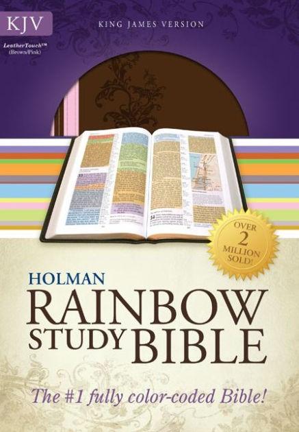 KJV Rainbow Study Bible, Pink/Brown Leathertouch (Imitation Leather)