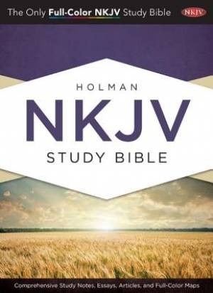 NKJV Holman Full Colour Study Bible Jacketed Hardcover (Hard Cover)