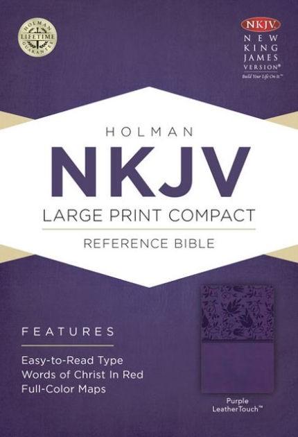 NKJV Large Print Compact Reference Bible, Purple (Imitation Leather)