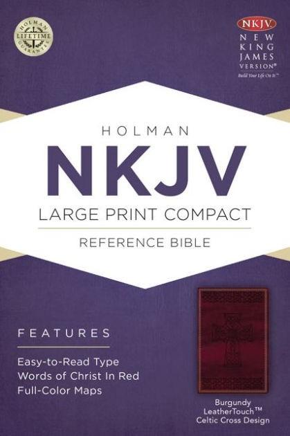 NKJV Large Print Compact Reference Bible, Burgundy (Imitation Leather)