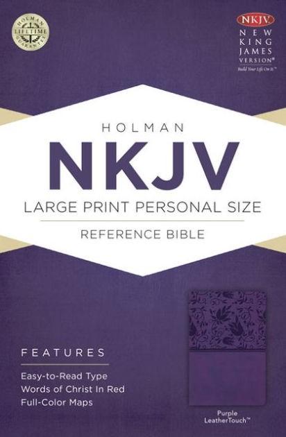 NKJV Large Print Personal Size Reference Bible, Purple (Imitation Leather)