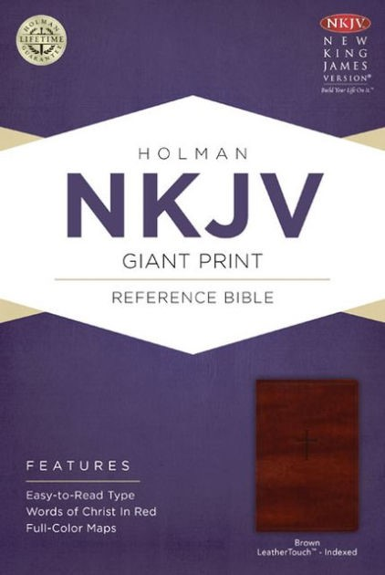 NKJV Giant Print Reference Bible, Brown Leathertouch Indexed (Imitation Leather)