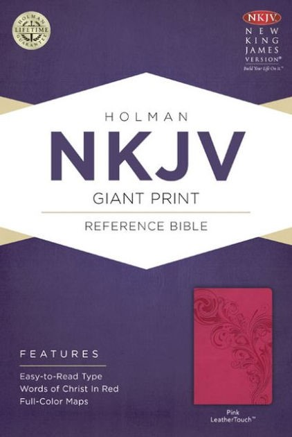 NKJV Giant Print Reference Bible, Pink Leathertouch (Imitation Leather)