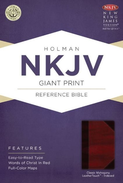 NKJV Giant Print Reference Bible, Classic Mahogany (Imitation Leather)
