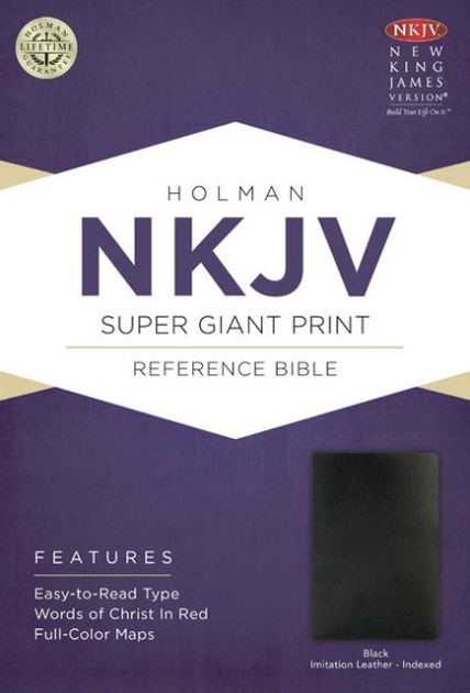 NKJV Super Giant Print Reference Bible, Black (Imitation Leather)