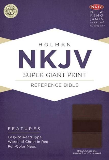 NKJV Super Giant Print Reference Bible, Brown/Chocolate (Imitation Leather)