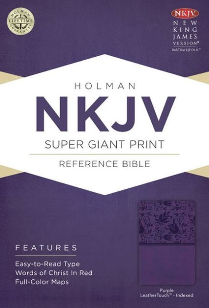 NKJV Super Giant Print Reference Bible, Purple Leathertouch (Imitation Leather)