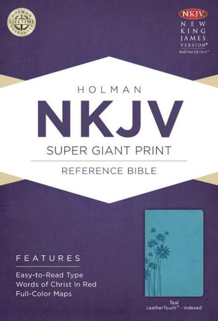 NKJV Super Giant Print Reference Bible, Teal, Indexed (Imitation Leather)