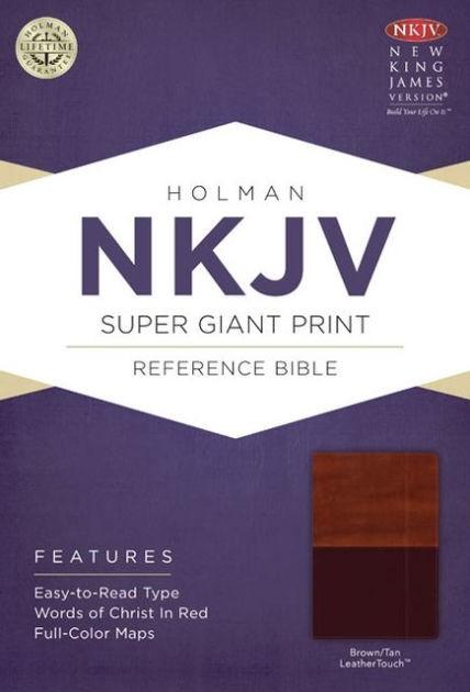 NKJV Super Giant Print Reference Bible, Brown/Tan (Imitation Leather)