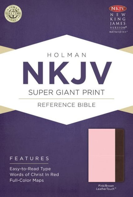 NKJV Super Giant Print Reference Bible, Pink/Brown (Imitation Leather)