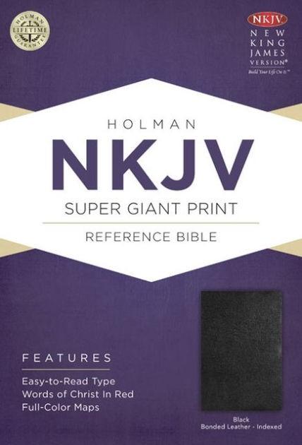 NKJV Super Giant Print Reference Bible, Black Bonded Leather (Bonded Leather)