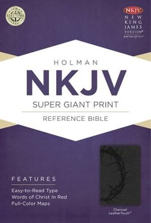 NKJV Super Giant Print Reference Bible, Charcoal (Imitation Leather)