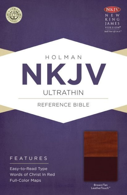 NKJV Ultrathin Reference Bible, Brown/Tan Leathertouch (Imitation Leather)