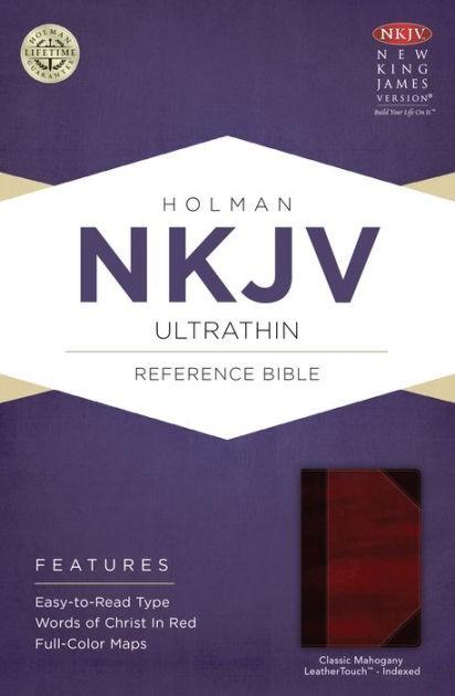NKJV Ultrathin Reference Bible, Classic Mahogany (Imitation Leather)