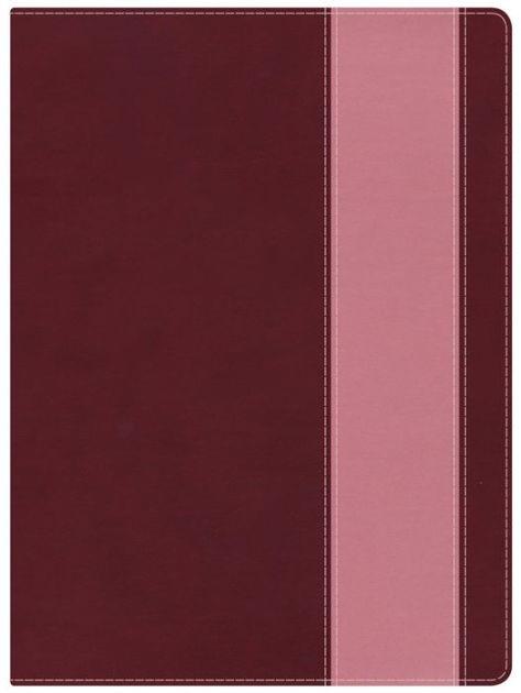 NKJV Holman Full-Color Study Bible Crimson/Coral (Imitation Leather)