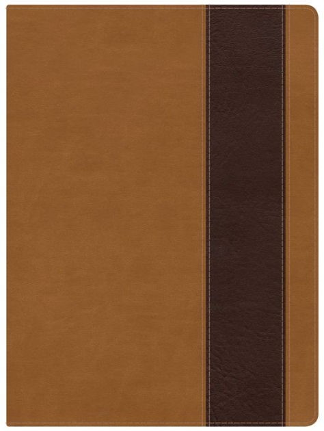 NKJV Holman Full-Color Study Bible Suede/Chocolate (Imitation Leather)