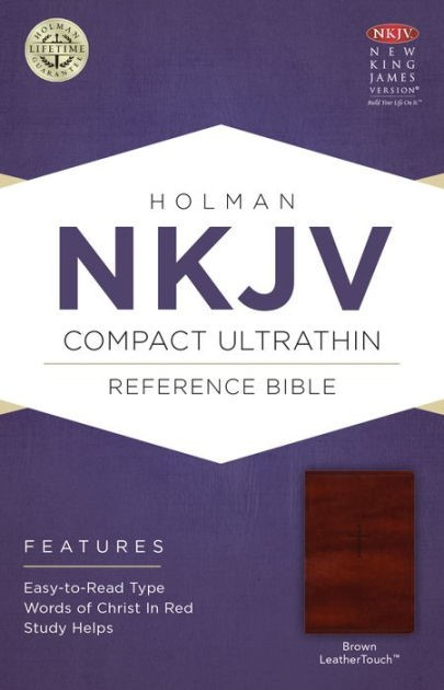 NKJV Compact Ultrathin Bible, Brown Leathertouch (Imitation Leather)