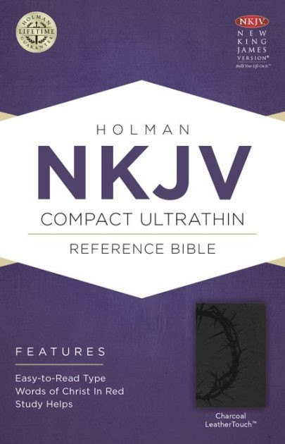 NKJV Compact Ultrathin Bible, Charcoal Leathertouch (Imitation Leather)