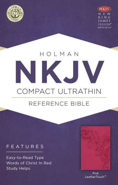 NKJV Compact Ultrathin Bible, Pink Leathertouch (Imitation Leather)