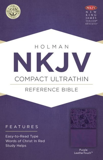 NKJV Compact Ultrathin Bible, Purple Leathertouch (Imitation Leather)