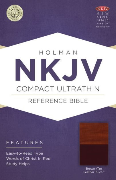 NKJV Compact Ultrathin Bible, Brown/Tan Leathertouch (Imitation Leather)