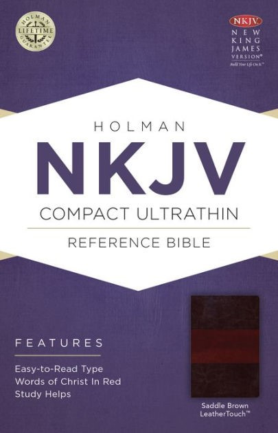 NKJV Compact Ultrathin Bible, Saddle Brown Leathertouch (Imitation Leather)