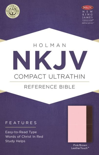 NKJV Compact Ultrathin Bible, Pink/Brown Leathertouch (Imitation Leather)