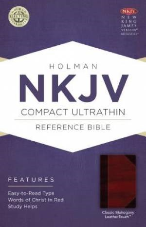 NKJV Compact Ultrathin Bible, Classic Mahogany Leathertouch (Imitation Leather)