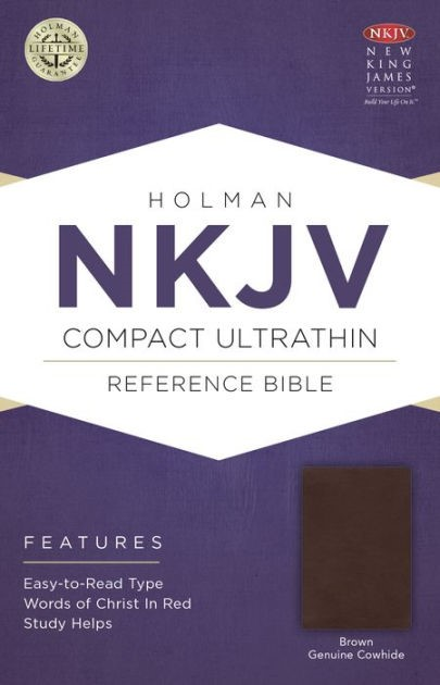 NKJV Compact Ultrathin Bible, Brown Genuine Cowhide (Genuine Leather)