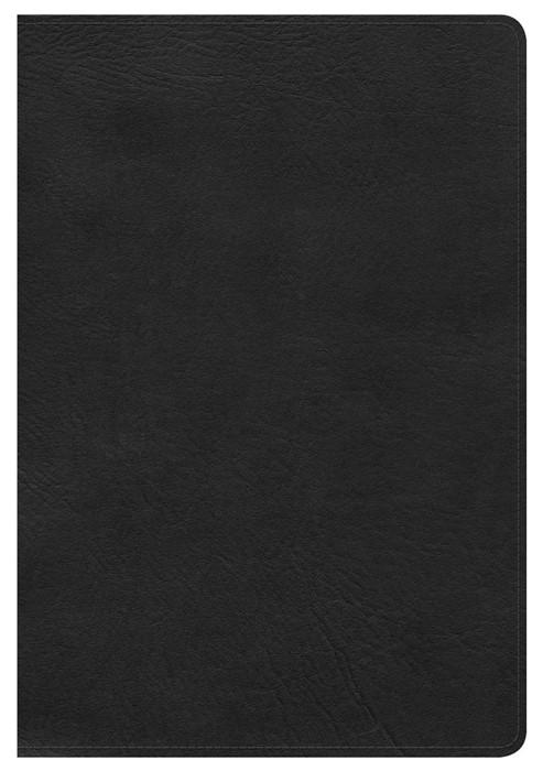 NKJV Large Print Ultrathin Reference Bible, Black (Bonded Leather)