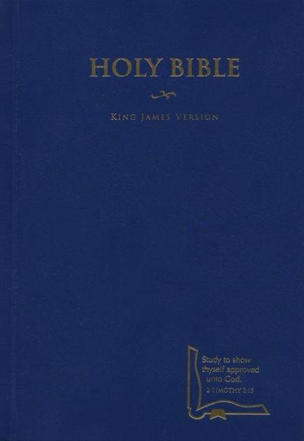 KJV Drill Bible, Blue Hardcover (Hard Cover)
