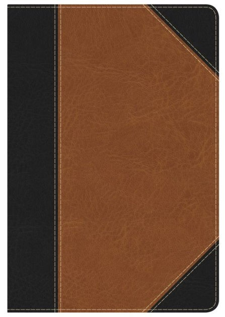 KJV Study Bible Personal Size, Black/Tan Leathertouch (Imitation Leather)