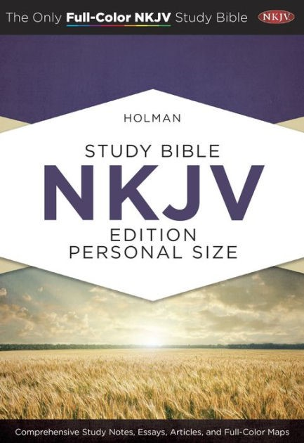 NKJV Holman Full Color Study Bible Personal Size Hardcover (Hard Cover)