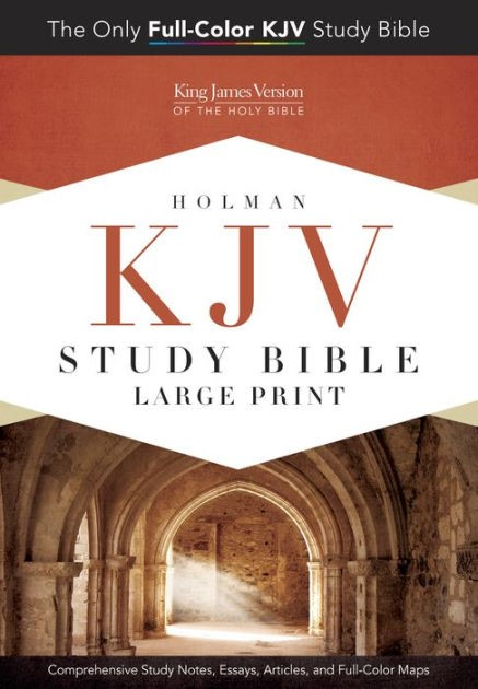 KJV Study Bible Large Print Edition, Hardcover (Hard Cover)