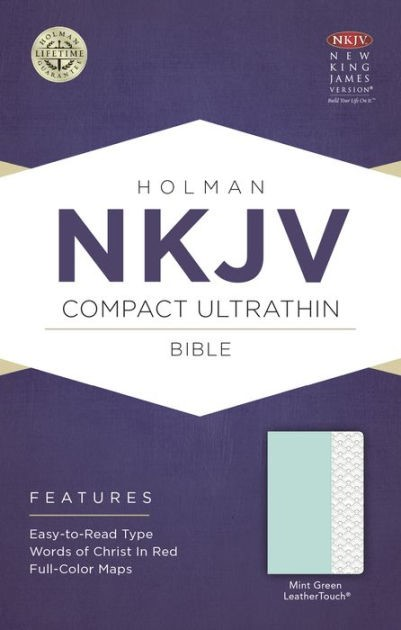 NKJV Compact Ultrathin Bible, Mint Green Leathertouch (Imitation Leather)