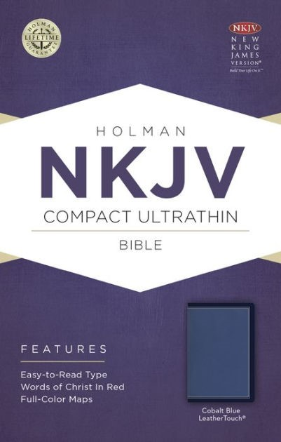 NKJV Compact Ultrathin Bible, Cobalt Blue Leathertouch (Imitation Leather)