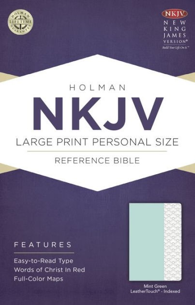 NKJV Large Print Personal Size Reference Bible, Mint Green (Imitation Leather)