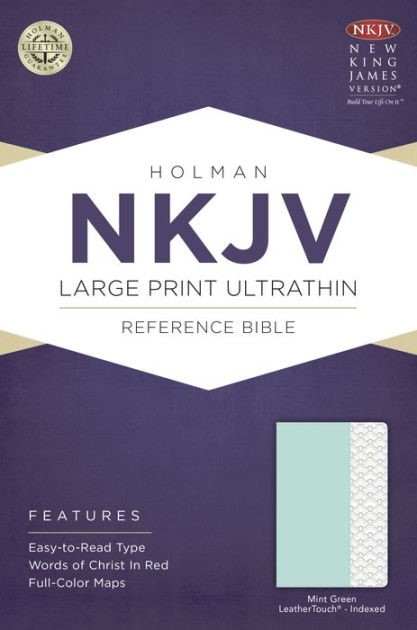NKJV Large Print Ultrathin Reference Bible, Mint Green (Imitation Leather)