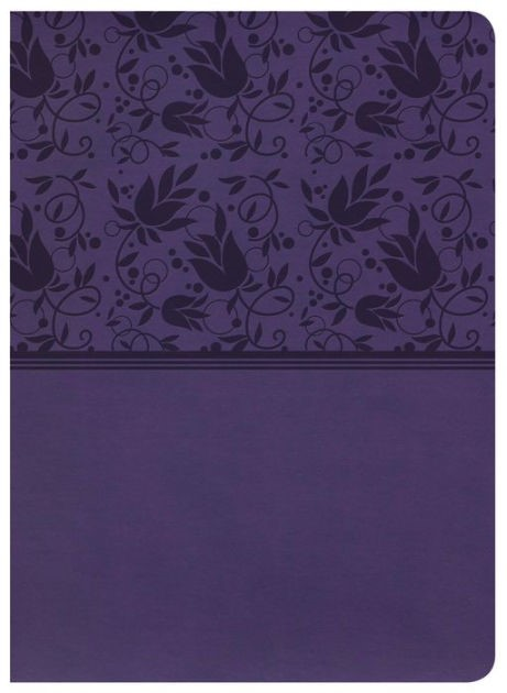 NKJV Holman Full-Color Study Bible Purple Leathertouch (Imitation Leather)