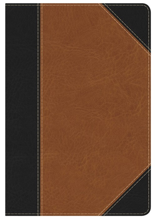 KJV Study Bible Personal Size, Black/Tan, Indexed (Imitation Leather)