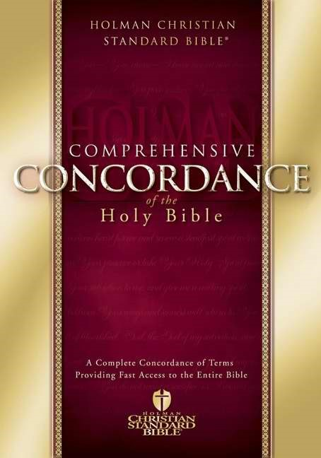 HCSB Comprehensive Concordance (Hard Cover)