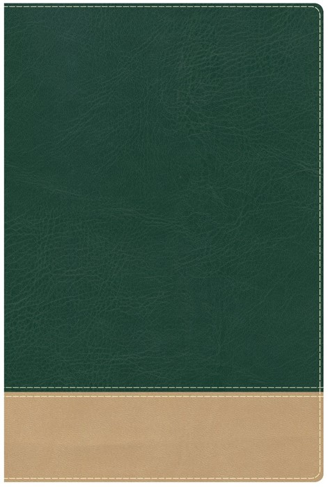 HCSB Teacher's Bible Green/Tan Leathertouch (Imitation Leather)