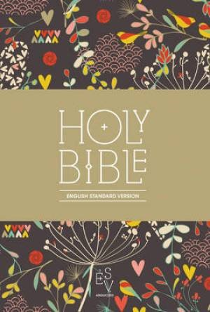 ESV Anglicised Compact Floral HB (Hard Cover)