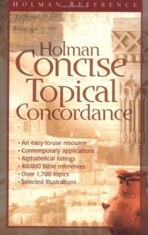 Holman Concise Topical Concordance (Hard Cover)
