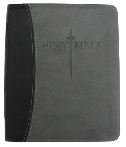 Kjver Sword Study Bible/Personal Size Large Print-Black/Grey (Imitation Leather)
