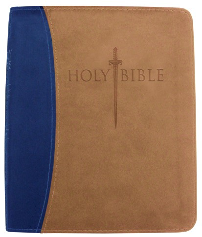 Kjver Thinline Bible/Personal Size-Blue/Tan Ultrasoft Indexe (Imitation Leather)