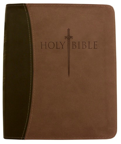 KJV Sword Study Bible/Personal Size Large Print-Dark Brown (Imitation Leather)
