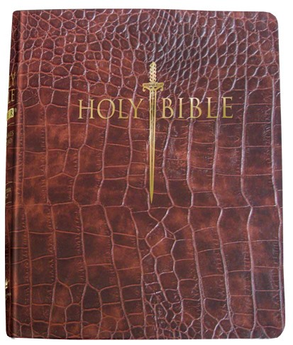KJV Sword Study Bible, Personal Size Large Print, Walnut (Bonded Leather)
